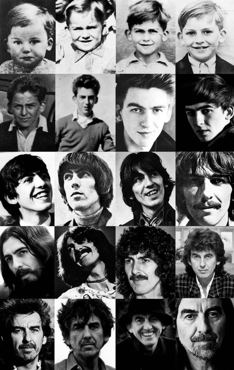 George Harrison, over all the years. When I'd first started listening to the Beatles, I thought they had great music. Then, as I got older, the people who had written the music had started to become an inspiration. Then, when I'd started to notice boys in a different way, and watched A Hard Day's Night, I thought George was so cute, and I loved the song he sang. I love him.
