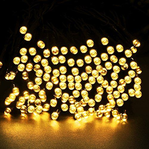 Upgraded innogear long 200 led outdoor string lights solar powered waterproof starry fairy lighting christmas decoration flashing light for patio gardens