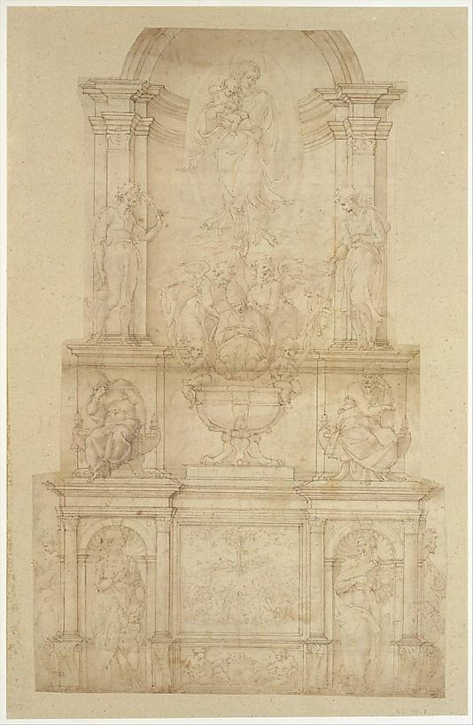 Design for the Tomb of Pope Julius II della Rovere -   Michelangelo Buonarroti