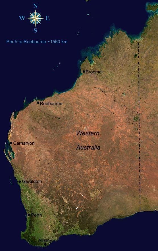 satellite image of Western Australia