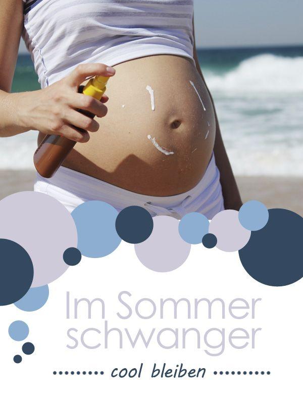 Hier findet ihr Tipps, die euch die Schwangerschaft während der Sommermonate erleichtern.