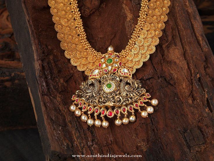 Indian Antique Bridal Jewellery Collections, Antique Bridal Jewellery Designs, Gold Antique Bridal Jewellery Necklace Collections