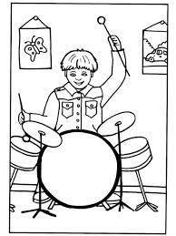 Výsledek obrázku pro hudební nástroje omalovánky