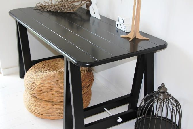 Black Beauty trestle table by Plank and Trestle - www.plankandtrestle.com.au