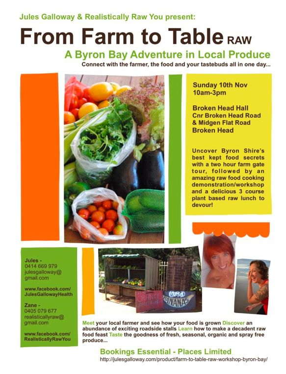 @Jules Galloway Raw Food Workshop & Event in Byron Bay