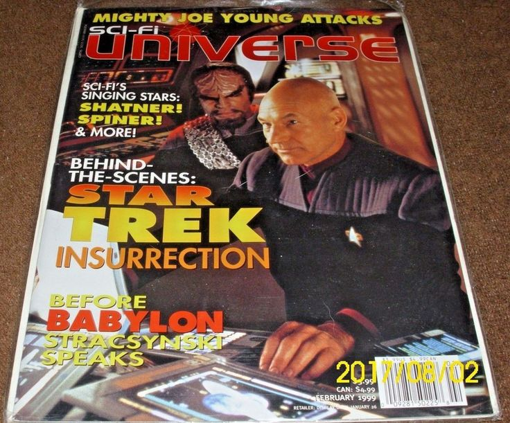 Sci-Fi Universe February 1999 Magazine Star Trek Insurrection Babylon 5 Shatner