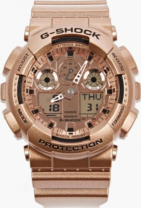 Rose Gold Ga 110gd 9aer Watch. Rose Gold GA 110GD 9AER Watch. The Casio G Shock Men's GA 110GD 9AER Watch, seen here in rose gold. Combining hard wearing functionality and striking design, this GA 110GD 9AER watch from Casio comes in a striking rose gold hue which is complemented by matching metal decals. #Casio #Pink #Watches #OKI-NI #Men #fashion #obsessory #fashion #lifestyle #style #myobsession #mensfashion #latestfashion
