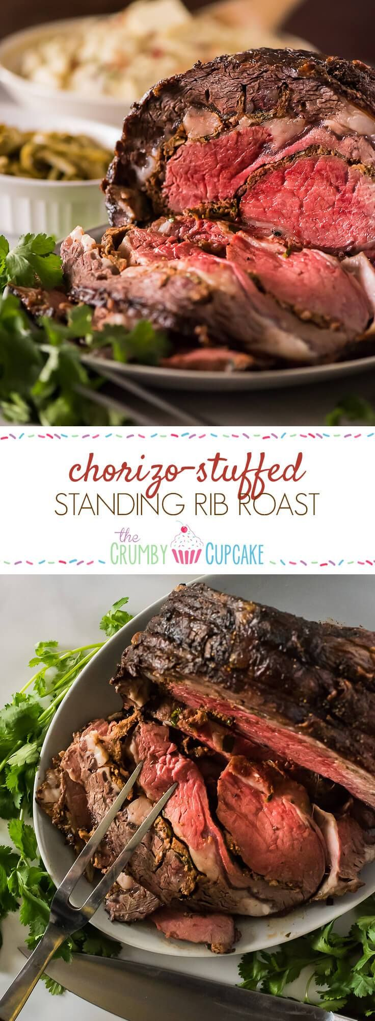 Thanksgiving dinner doesn't always have to be about a big, juicy bird! Take it easy on yourself and set a Latin-inspired Chorizo-Stuffed Standing Rib Roast on the table - it's guaranteed to impress!