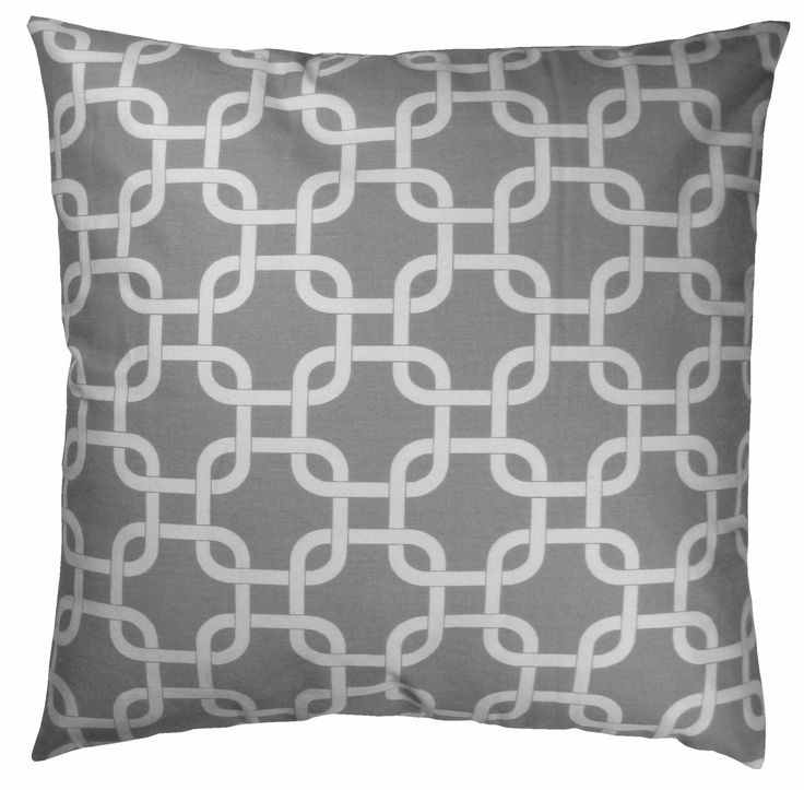 Attractive Best Throw Pillow Covers Part - 9: $16 JinStyles Cotton Canvas Trellis Chain Accent Decorative Throw Pillow  Cover (Grey U0026 White,