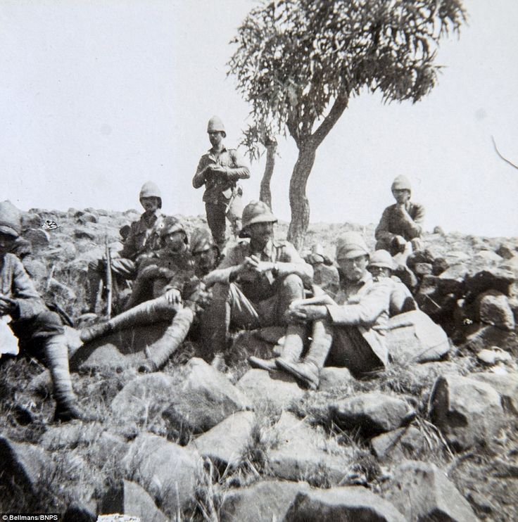 British soldiers, who included troops from New Zealand and Australia, had to fight the Boers in often searing temperatures in South Africa