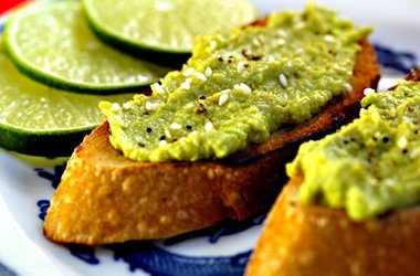Avocado and Edamame (Soy Bean) Spread on Toast — Punchfork