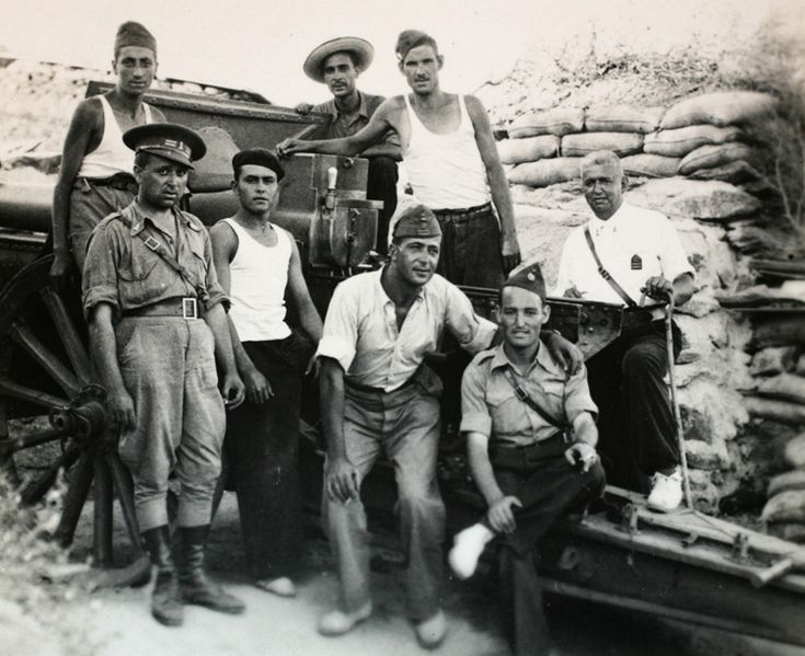Batallón de los Morteros en el Frente de Somosierra. Elisa Velasco Orensanz 1937 - Archivo fotográfico de la Comunidad de Madrid