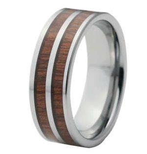 Red Wood Tungsten Ring for Men, $130.00 (http://www.june26.ca/red-wood-tungsten-ring-for-men/)
