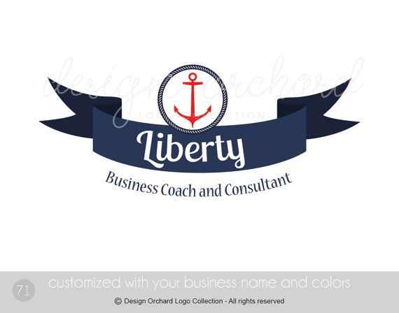 Nautical Theme Logo Business Coach and Consultant by DesignOrchard