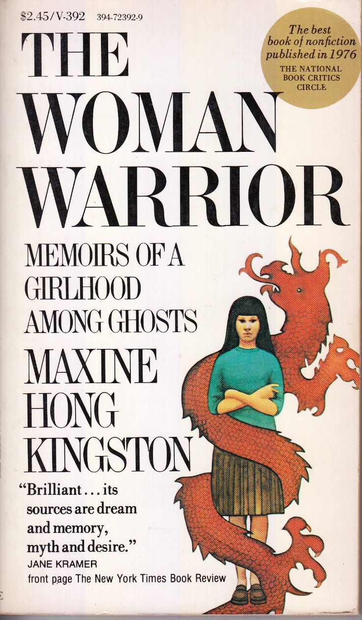the ghosts of the woman warrior essay Maxine hong kingston  anisfield-wolf book awards for the woman warrior: memoirs of a girlhood among ghosts, 1978  no name woman (essay), 1975 the woman warrior.