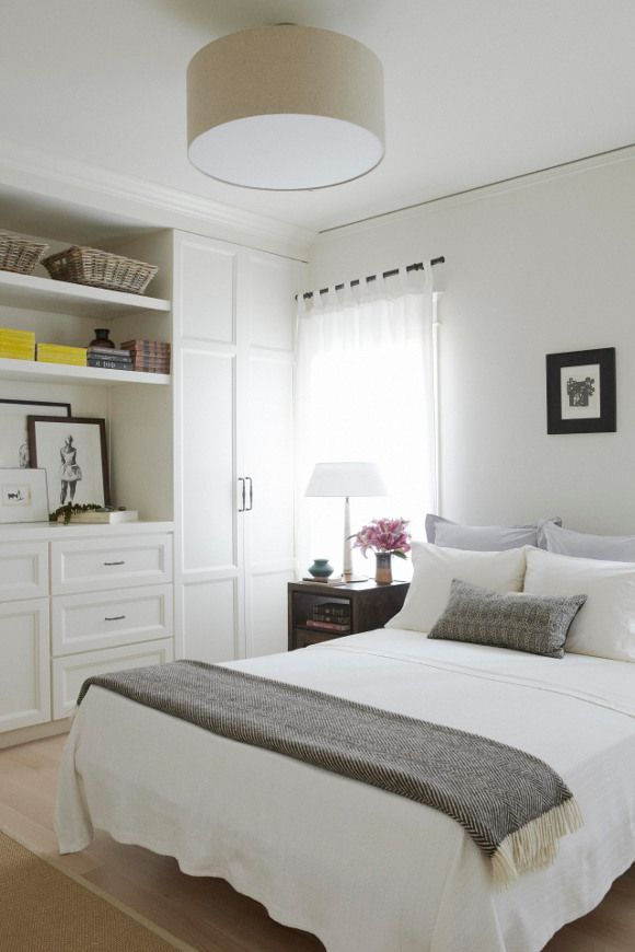An overhead ceiling mounted fixture can be attractive with this linen lamp shade style lumiere...