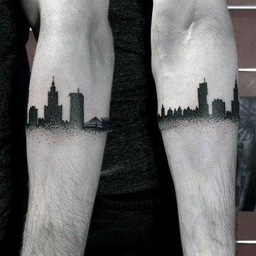 tatuajes de ciudades en el brazo ideas bonitas