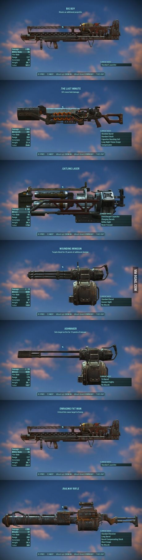 Best Heavy Weapons so far (fallout 4)/// the last one! Choo-Cho