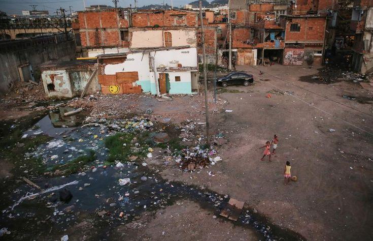 Nur rund 750 Meter vom Maracanã-Stadion entfernt liegt die Favela Metro-Mangueira.