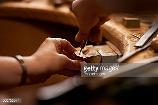 Stock Photo : Working with your hands is the purest art form