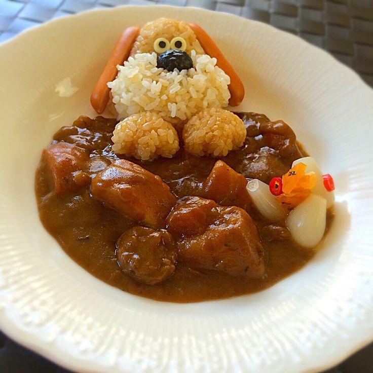 Hiromiromi's dish photo 月  日は  愛犬の日   http://snapdish.co #SnapDish #北欧風料理グランプリ #カレーライス #カレー #カレーの日(1月22日) #こどもの日