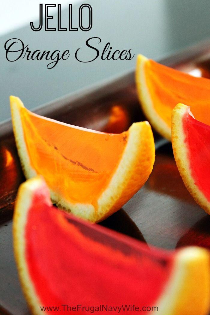 Jello Orange Slices - The Frugal Navy Wife