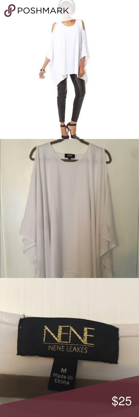 New white cold shoulder tunic Brand new white Nene Leakes cold shoulder tunic, size medium NeNe Leakes Tops Tunics