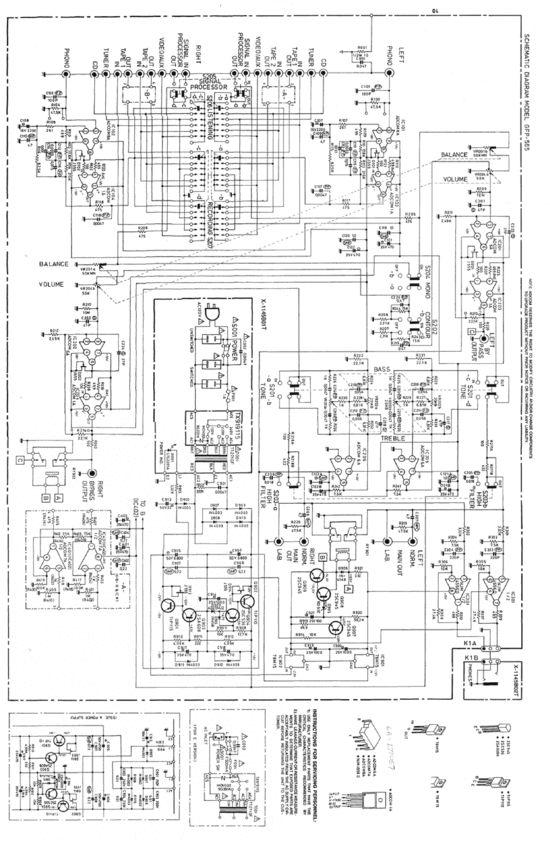 Adcom Gfp 565 Original Schematics For Service Repair In 2019