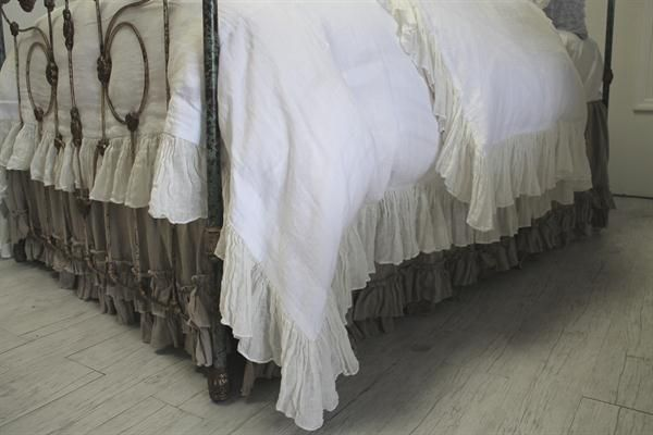 Marie Linen Ruffle Duvet from Full Bloom Cottage