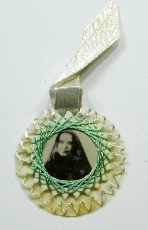 St. Frances Xavier Cabrini Reliquary Ex Indumentis Relic Vintage Handmade 21358 by JacksonsMarket on Etsy