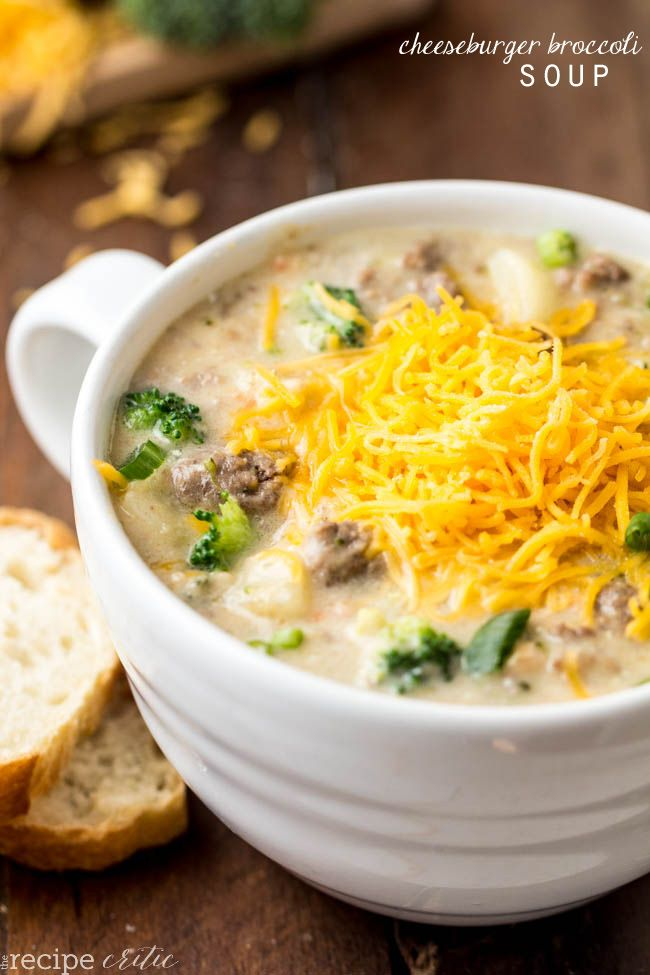 Cheeseburger Broccoli Soup is two award winning soups combined to make the most amazing must try soup!