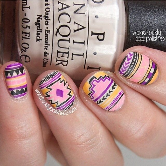 69 best nails tribal images on pinterest friends family photo taken by nail art on instagram pinned via the instapin ios app prinsesfo Image collections