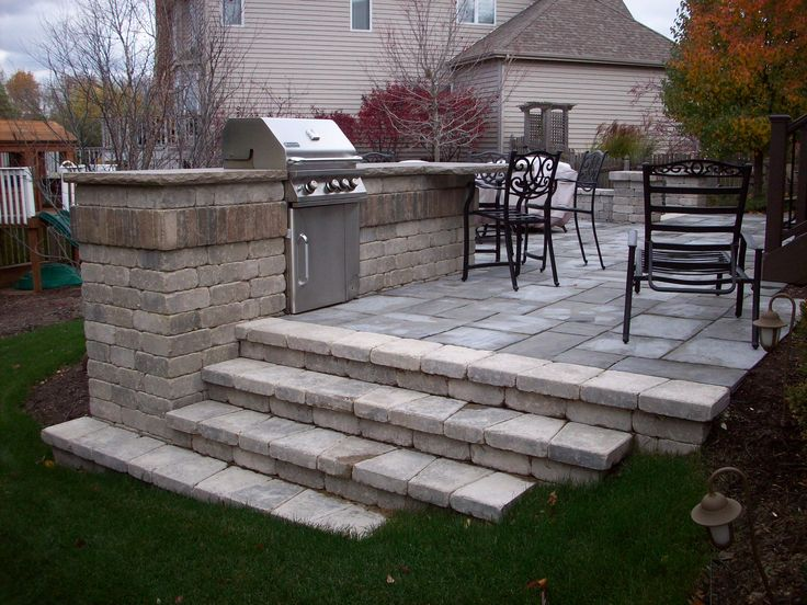 Outdoor Kitchens Unilock Olde Quarry Bbq And Steps