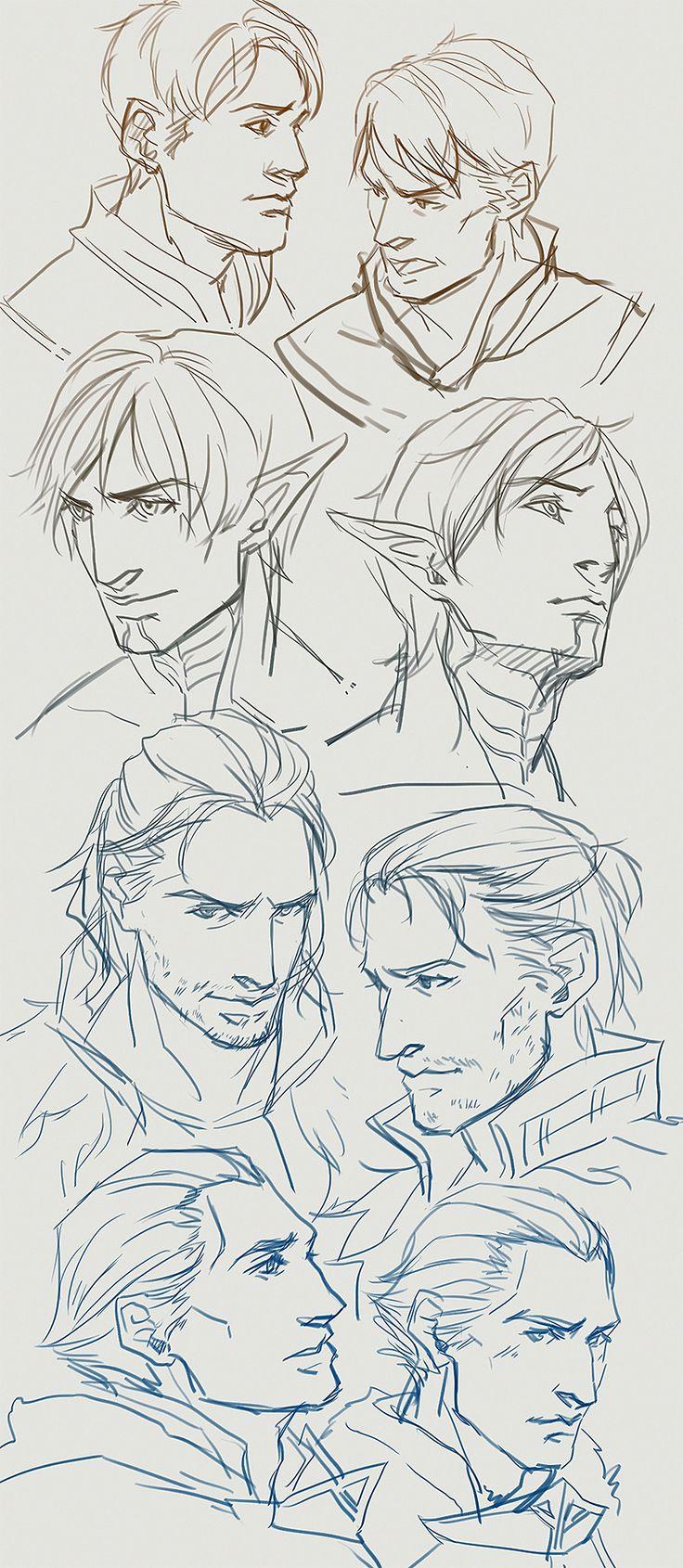 Carver, Fenris, Anders, and Sebastian