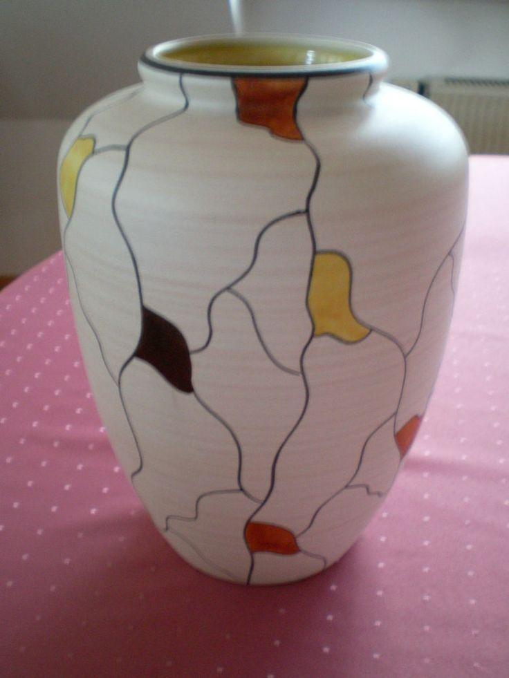 große ILKRA Keramik Vase Dekor Brüssel Design E. Werner 50er WGP mid century  | eBay