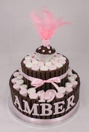 Kit Kat & Marshmallow Birthday Cake