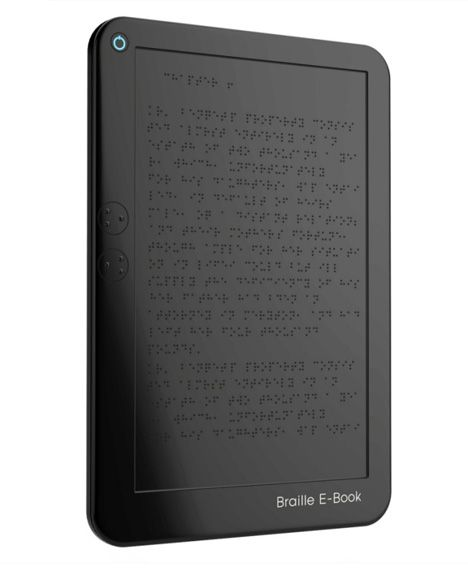 Braille E-Book; Fundraise to give a few of these to local schools? #ServiceForSight