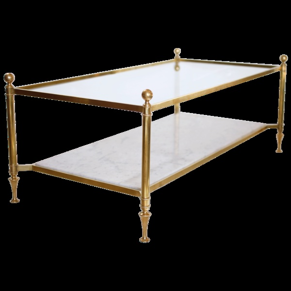 Brass And Carrara Marble Coffee Table Home Decor Pinterest