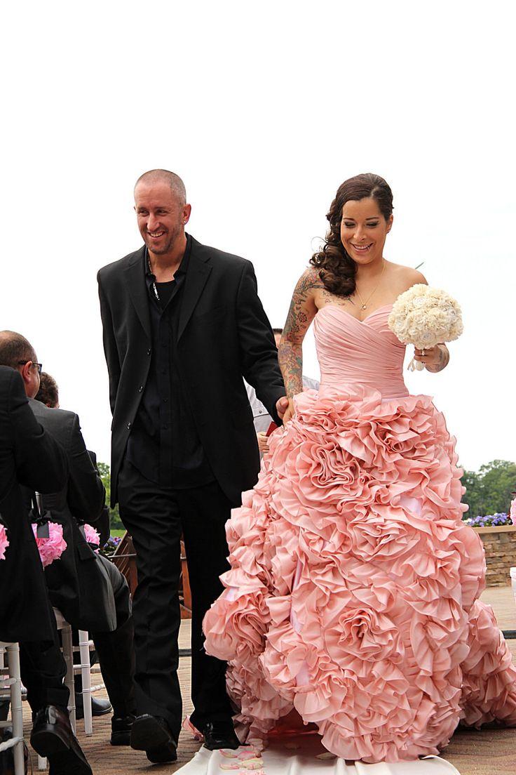 116 best Only Pink Wedding Dresses images on Pinterest | Wedding ...