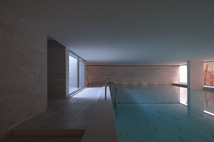 Indoor pool, Altis Belem Hotel & Spa in Portugal by Risco Architects (photo Fernando Guerra FG+SG) _