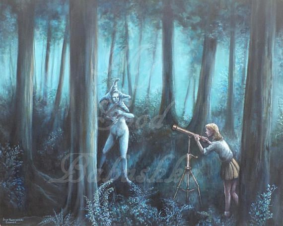 Star Gazer Astronomy Lesson in the Blue Forest Large