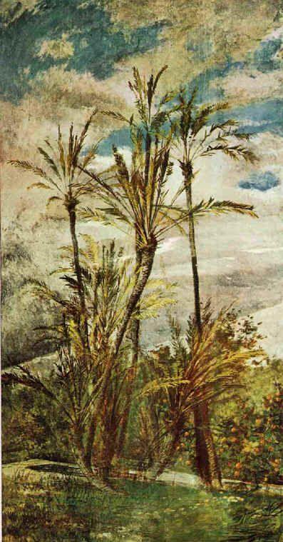 Giovanni Boldini, Palme e aranci. Dipinti murali della Falconiere, Pistoia