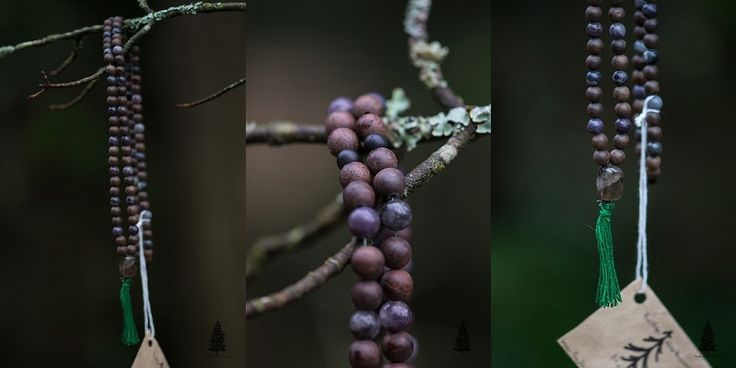 Rebirth Mala This mala is a combination of Lepidolite, Black Onyx and Smoky Quartz. All three of these stones help its wearer to release negative...