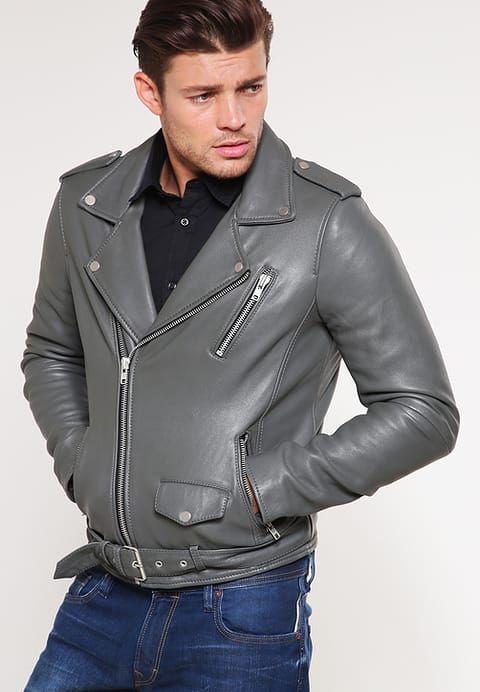 6839ebcc0c17c CHAQUETA DE CUERO GRIS HOMBRE  chaqueta  chaquetadecuero  cuero  hombre