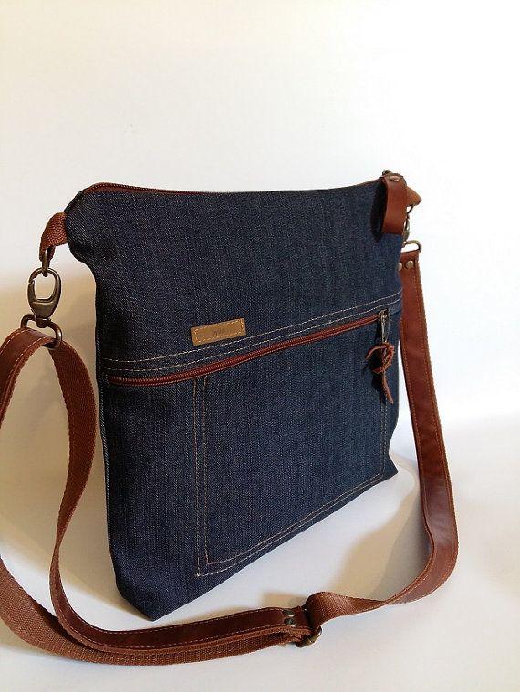 Denim bag Unisex bag Gift for him Gift for her Everyday by BYildi