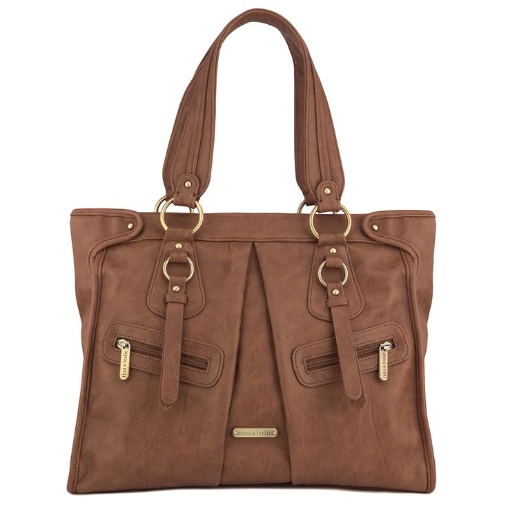 Dawn 7-Piece Bag Set - Caramel | Fashion meets Function – you really can have it all! timi & leslie designer diaper bags for stylish modern parents.