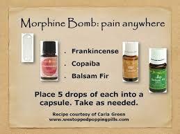 Resultado de imagen de morphine bomb young living