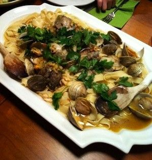 Pasta With Extreme White Clam Sauce