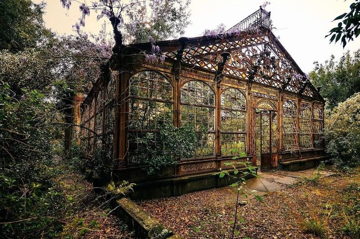 Old conservatory Victorian greenhouses, Abandoned places