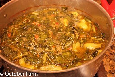 Octoberfarm: The World's Best Collard Greens Recipe and Corn Casserole